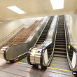 The escalator moving at metro station — Stock Photo #18943481