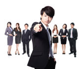 Business man finger pointing at you — Stock Photo