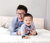 Young father play with his son boy — Stock Photo