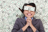 Business woman hope be rich — Stock Photo