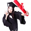 Happy graduate student girl — Stock Photo