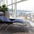 Relax deck chair at airport - Stock Photo