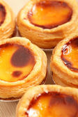 Delicious portuguese egg tart — Stock Photo