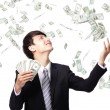 Happy business man with us money — Stock Photo #25857443
