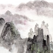 Chinese painting of high mountain landscape — Stock Photo #28007797