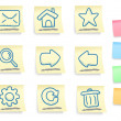 Hand drawn internet and web icons set — Stock Vector