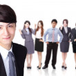 Business man with group team — Stock Photo