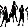 Silhouettes of Business woman — Stock Vector
