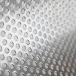 Metal background with circles — Stock Photo
