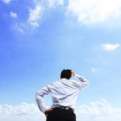 Business man thinking — Stock Photo