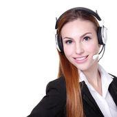 Zakelijke vrouw klant service worker — Stockfoto