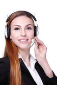 Business Woman customer service worker — Stock Photo