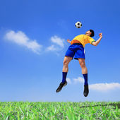 Lets play soccer now — Stock Photo