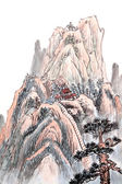 Chinese painting of high mountain — Stock Photo