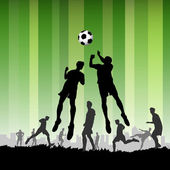Soccer Players — Stockvektor