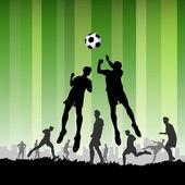 サッカーの選手 — ストックベクタ