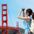 Woman travel in San Francisco — Stock Photo #46088509