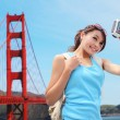Woman travel in San Francisco — Stock Photo #46088537