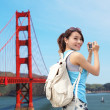 Woman travel in San Francisco — Stock Photo