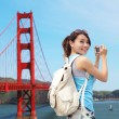 Woman travel in San Francisco — Stock Photo #46088553