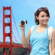 Woman travel in San Francisco — Stock Photo #46088581