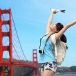Woman travel in San Francisco — Stock Photo #46088585