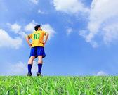 Aficionado al fútbol jugador — Foto de Stock