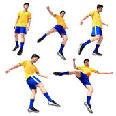 Soccer football player — Stock Photo
