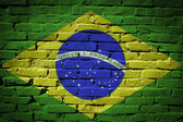 Brazil flag on wall — Stock Photo