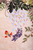 Chinese painting of flowers and butterfly — Stock Photo