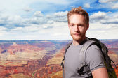 Grand Canyon travel Young man — Stock Photo