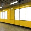Blank Billboard in metro subway station — Stock Photo #48015853