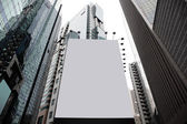 Blank billboard in a city — Stock Photo