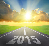 Forward to 2015 new year concept — Stock Photo