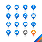Social media icons vector — Stock Vector