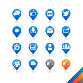 Social media icons vector — Stock Vector