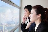 Business team speaking phone — Stock Photo