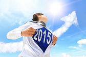 Welcome 2015 New year concept — Stock Photo