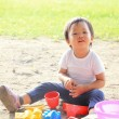 Child play in sand — Stock Photo #49758237