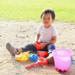 Child play in sand — Stock Photo #49758245