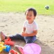 Child play in sand — Stock Photo #49758269