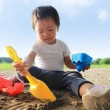 Child play in sand — Stock Photo #49758459