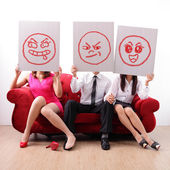 Extramarital affair and marital infidelity — Stock Photo