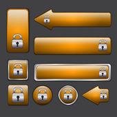 Orange web knappar — Stockvektor