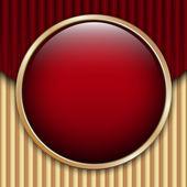 Rouge ondulé fond carton — Vecteur
