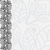 Filigree floral background — Stock Vector