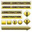Set of under constuction signs — Stock Vector
