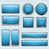Glossy Blue web buttons — Vector de stock