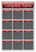 2013 Red Calendar — Stock Vector