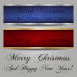 Merry Christmas Banners — Stock Vector #13813734